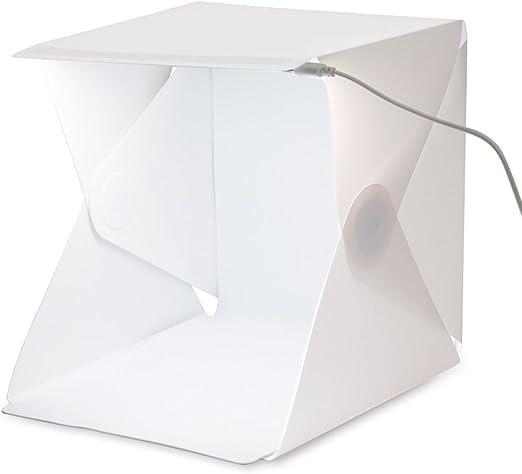 Portátil La Lightbox Cubo Caja Luz Estudio 40 * 40 * 40 Cm para La Fotografía - 2 Fondo (Negro, Blanco): Amazon.es: Hogar