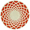 nuLOOM ACR138A Cine Collection Lumi Contemporary Hand Made Round Area Rug