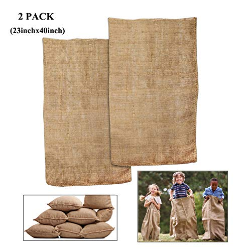 Ueasy Burlap Sacks Race Bags,2 Pack/ 4 Pack Burlap, used for sale  Delivered anywhere in Canada