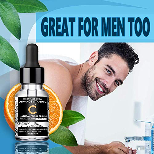 51QSYF7j0sL - Vitamin C Serum for Face | With Hyaluronic Acid, Retinol, & Vitamin E | Natural Anti Aging & Wrinkle Facial Serum, Best Vitamin C Serum for your Skin (PH 5.5 for all skin types)