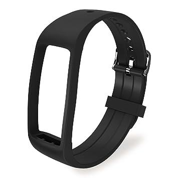 Willful SW327 Correa de recambio en diferentes colores para Smartwatch Fitness Tracker D07F Negro