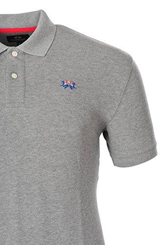 La Martina Polo Poloshirt Einfarbig Grau S