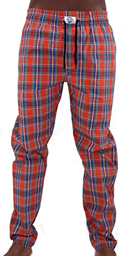Notorius Homies Pyjamahose Schlanfanzug Hose Herren lang rot kariert 004 Terra Red