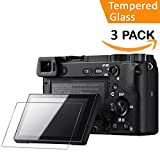 Glass Screen Protector for Sony Alpha A6000 A5000 A6300 NEX-7 NEX-3N NEX-5 NEX-6 NEX-6L,QIBOX 3 PACKS Tempered Glass Anti-Bubble Anti-scratch Anti-fingerprint Ultra-clear 9H Cover