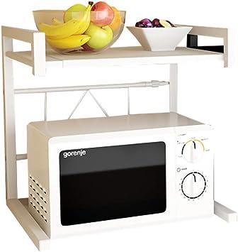 ZMW Cocina Soporte para Microondas,2 pisos retráctil Rejillas de Horno estante para especias,Multifuncional encimera Storage rack/Blanco / 44x36x42cm: Amazon.es: Bricolaje y herramientas