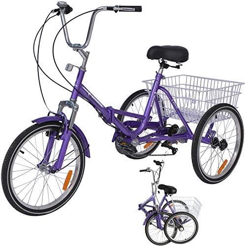 Men Multiple Speeds for Seniors MTFITNESS Adult Tricycle 1//7 Speed 3-Wheel with Cargo Basket Three Wheel Cruiser Bike Women Green