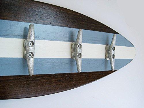 Surfboard Coat Rack with Five Galvanized - Rack Coat Surfboard