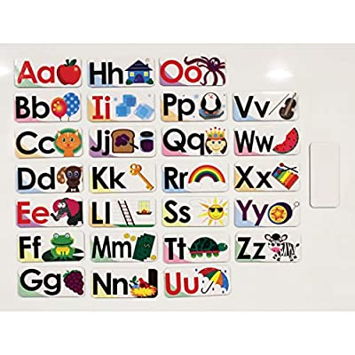 ASHLEY PRODUCTIONS ABC Picture Words Double-Sided Magnets: Toys & Games