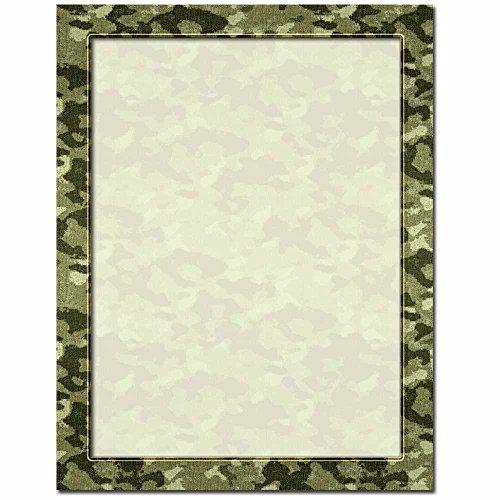Camouflage Letterhead Laser & Inkjet Printer Paper, 100 pack