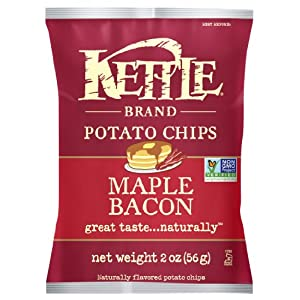 Kettle Brand Potato Chips, Maple Bacon, 2-Ounce Bags (Pack of 24)