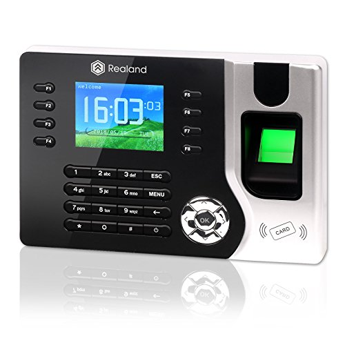Time Attendance, Realand A-C071 Biometric Fingerprint Clock Terminal Device System TCP/IP RFID Card 125Khz