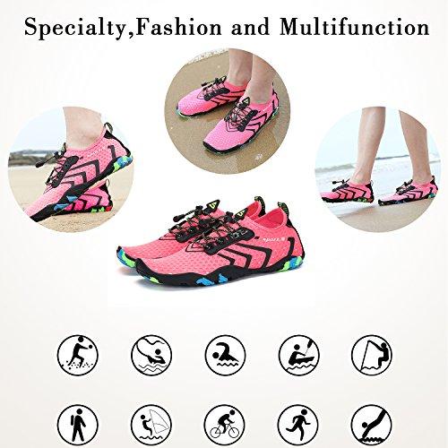 Walk Beach Shoes Barefoot Pool for Mens Womens Aqua Unisex Swimming Pink Water azvROO