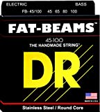 DR's Fat-Beams electric bass guitar strings are handmade with the finest American stainless steel for the best sound and feel possible. Fat-Beams continue to be compression wound to produce fat mids, bright highs and that distinct edgy Fat-Beams tone...