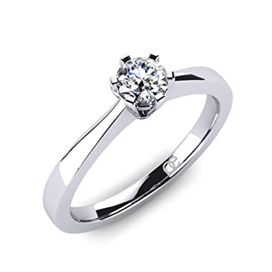 Moncoeur Diamonds Damen Ring Eternite 925 Sterlingsilber Solitaire