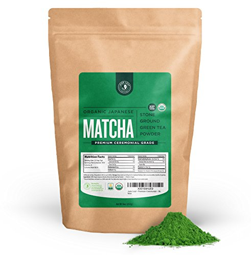 Jade Leaf - Organic Japanese Matcha Green Tea Powder, Premium Ceremonial Grade (For Sipping as Tea) - [1lb Bulk Size] by Jade Leaf Organics