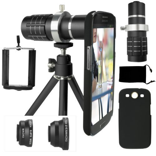 Samsung Galaxy S3 Camera Lens Kit- 12x Telephoto Lens, Fi...