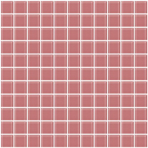 Susan Jablon Mosaics - 1 Inch Mauve Pink Glass Tile