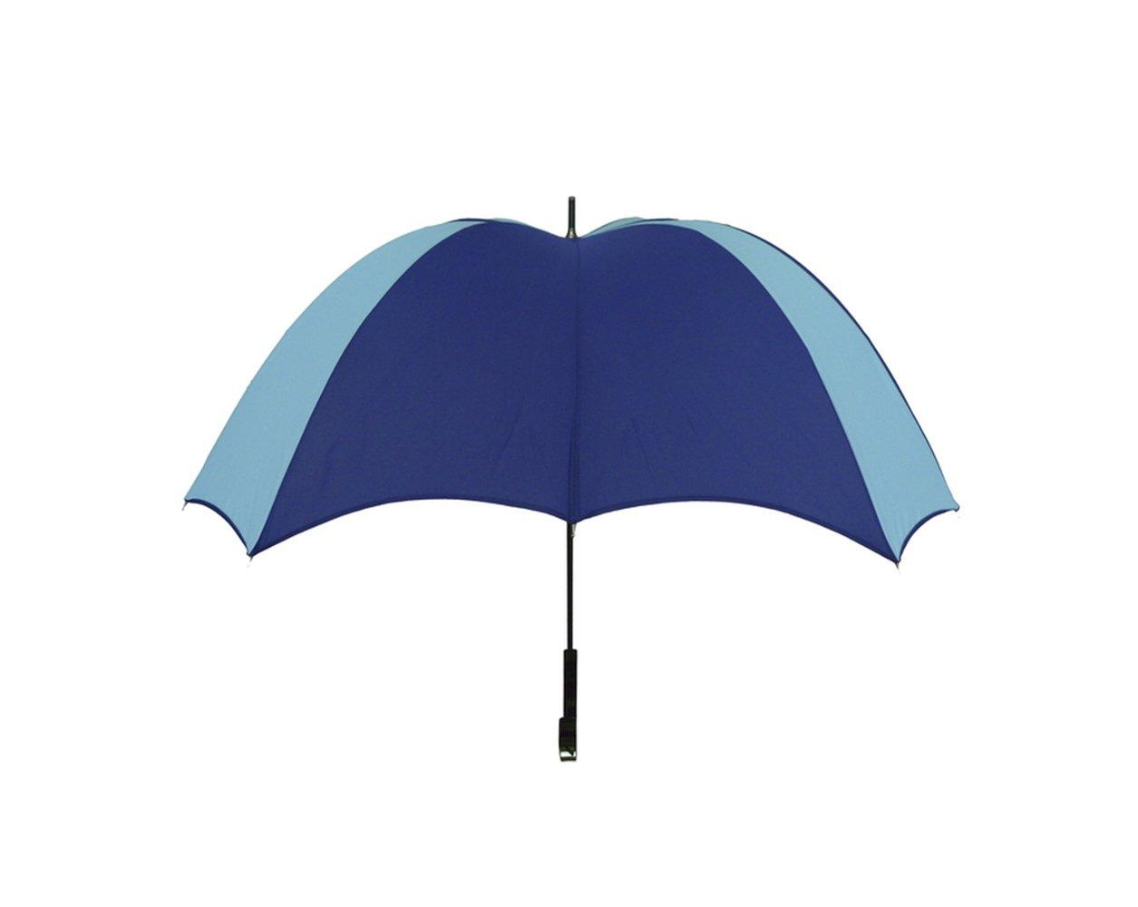 【正規輸入品】 ディチェザレ デザイン クロス ウォーカー カラーコンビ 全4色 長傘 手開き 日傘/晴雨兼用 ネイビー&ターコイズ 12本骨 52-64cm グラスファイバー骨 テフロン加工 B00T7RFYHQ ネイビー&ターコイズ ネイビー&ターコイズ
