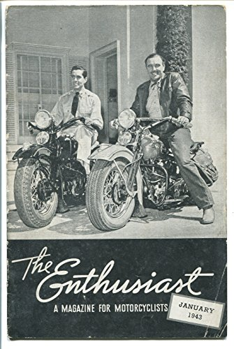THE ENTHUSIAST 01/1943-HARLEY-DAVIDSON CO-TYRONE POWER-HISTORIC (Harley Davidson Memorabilia)