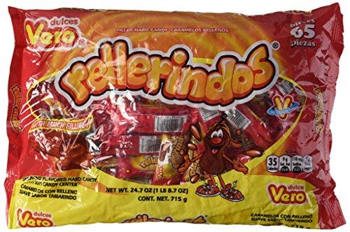 Vero Mexican Tamarindo Candy Rellerindos - 65 Count by Pinatas [Foods]