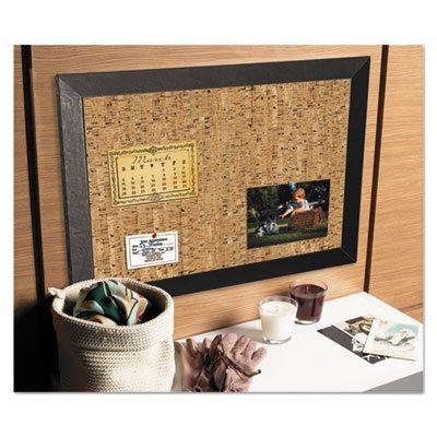 MasterVision - Tablero de corcho natural, 60,96 x 91,44 cm, marco negro Kamashi (SF0722581012), SF0722581012, Negro, 24 x 36