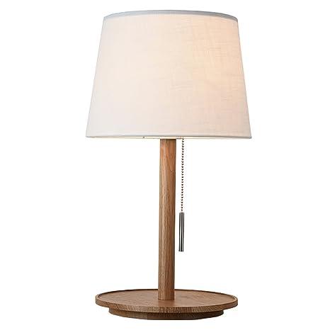 Lámpara de Mesa lámpara de cabecera de Madera Sala de Estar ...