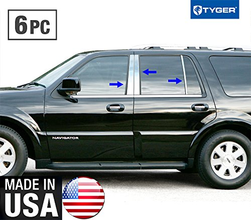 made-in-usa-97-2015-lincoln-navigator-6pc-stainless-steel-chrome-pillar-post-trim