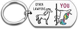 Funny Lawyer Keychain Gift for Judge Attorney Paralegal Prosecutor Law School Graduate Student for Women Men Physician Appreciation Day