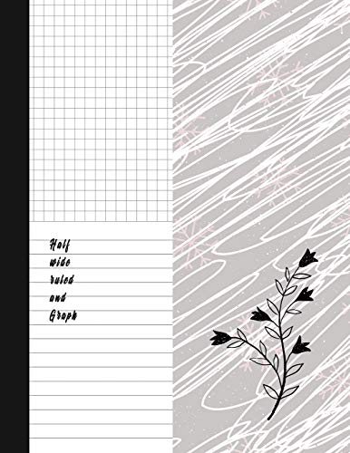 Pdf Home Half wide ruled and Graph: Classic Black And White Soft Cover Composition Notebook Half Graph 4x4 Half Lined Paper Notebook on same page, Squared, ... Notebooks, Diary Practice Journal Organizer.