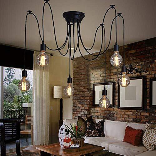 Plafond Spider Light – Retro Plafondlamp – Creatieve Plafondlamp Vintage DIY Lamp – Industriële Hanglamp voor Slaapkamer…