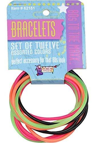 Forum Novelties 80's to the Max Jelly Bracelets (One Size-2 Sets, Multicoloured)]()