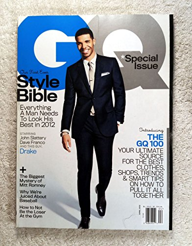 Drake - First Ever Style Bible - GQ Magazine - April - Style Drake