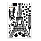 Love in Paris - Eiffel Tower Wall Stickers Night Fluorescent Luminous Living Room Bedroom Kids Room
