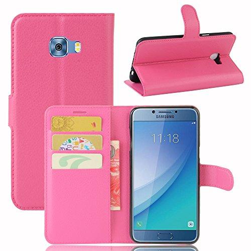 Funda Samsung Galaxy C5,Manyip Caja del teléfono del cuero,Protector de Pantalla de Slim Case Estilo Billetera con Ranuras para Tarjetas, Soporte Plegable, Cierre Magnético(JFC9-1) G