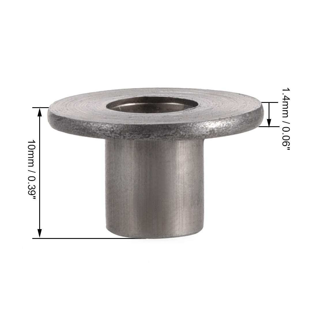 sourcing map 30Pcs M5x15x1.2mm Brad Hole Tee Nut Carbon Steel Round Base Screw-in T-Nut