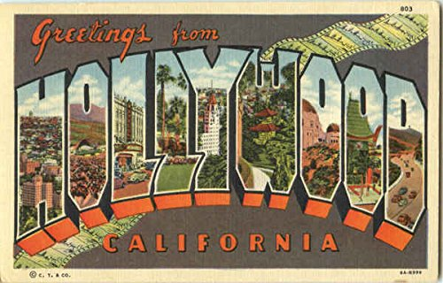 Greetings From Hollywood Hollywood, California Original Vintage Postcard from CardCow Vintage Postcards