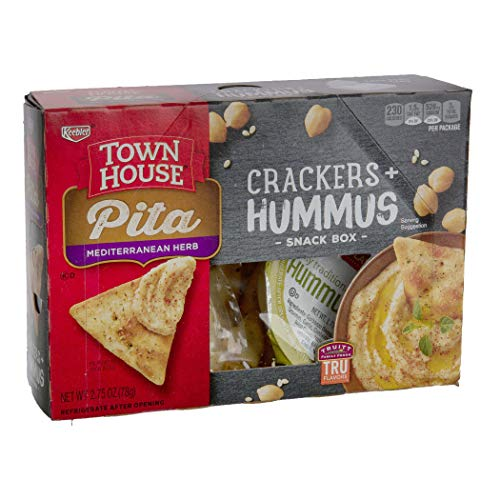 Keebler Town House Pita Crackers Mediterranean Herb with Hummus, 2.75 Ounce -- 8 per case. ()