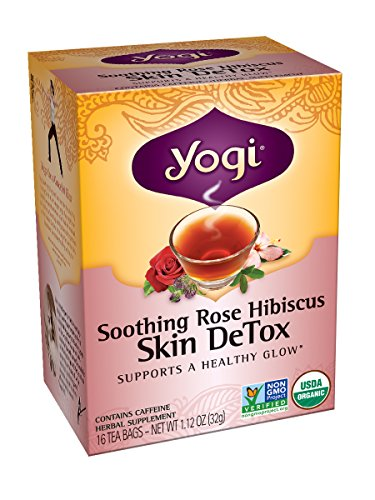 Skin Detox Tea (Yogi Skin DeTox Tea, Soothing Rose Hibiscus, 16 Tea Bags (Pack of)