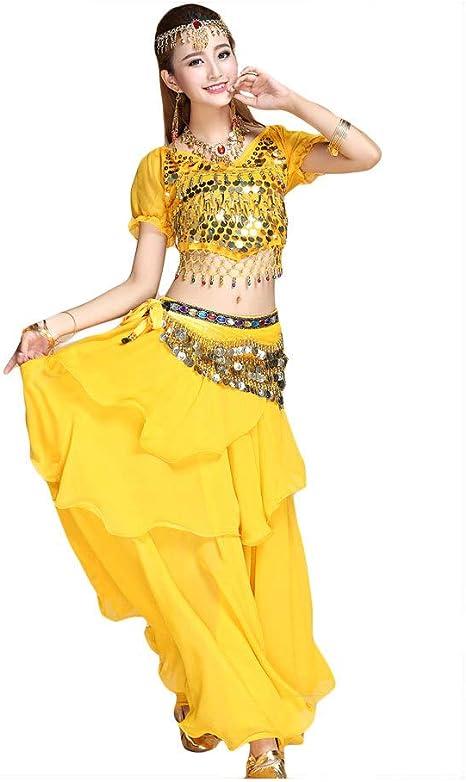 4 Piezas Adulto India Árabe Disfraces Mujer Vientre India ...