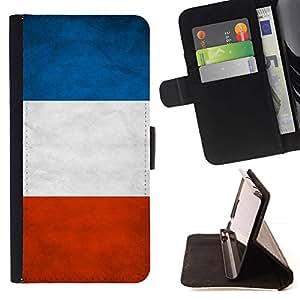 Momo Phone Case / Flip Funda de Cuero Case Cover - Nacional bandera de la nación País Francia; - HTC Desire 626