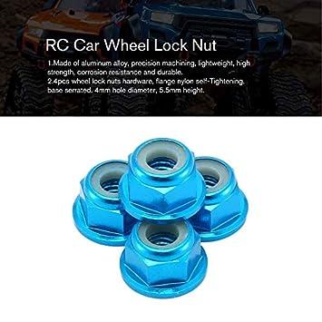 Kit de Hardware de Rueda para RC Hobby Model Car 1//10 Axial SCX10 Crawler HoganeyVan ★ Tuerca de Bloqueo de Rueda de Coche RC Juegos de aleaci/ón de Aluminio