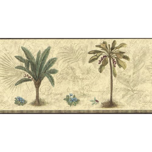Decorate By Color BC1580044 Green Palm Tree Border