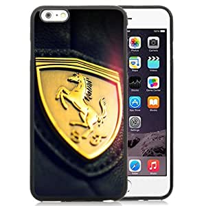 Unique and Attractive TPU Cell Phone Case Design with Gold Ferrari Insignia Logo iPhone 6 plus 4.7 inch Wallpaper