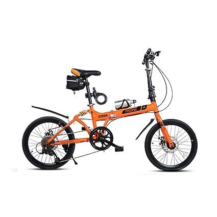 DT Bicicleta Plegable Velocidad Variable 20 Pulgadas Amortiguadores de Choque Delanteros y Traseros Mujeres/Hombres