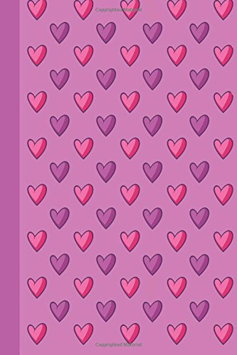 Journal: Pink and Purple Hearts 6x9 - DOT JOURNAL - Journal with dotted pages (Hearts Dot Journal Series)