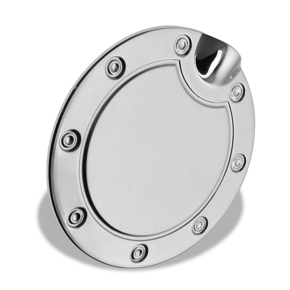 runmade Chrome Fuel Tank Gas Door Cap Cover Silver For 2002 2003 2004 2005 2006 2007 2008 Dodge Ram
