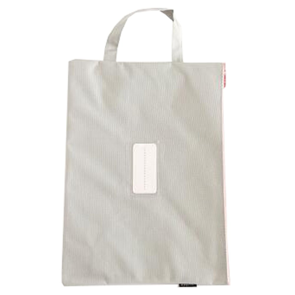 Cute File Bag Stationery Bag Pouch File Envelope for Office/School Supplies, Light Gray