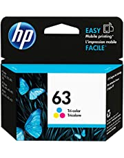 HP 63 | Ink Cartridge | Tri-color | Works with HP DeskJet 1112, 2100 Series, 3600 Series, HP ENVY 4500 Series, HP OfficeJet 3800 Series, 4600 Series, 5200 Series | F6U61AN