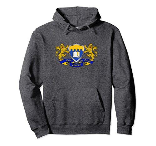 Unisex Conroy Irish Coat of Arms Hoodie XL: Dark ()