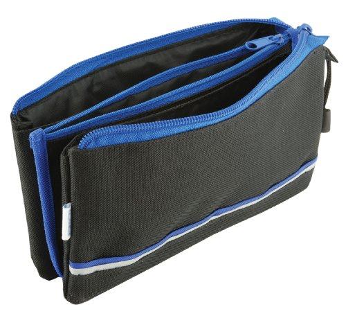 Pencil Case - Triple Pocket - School Pencil Box - Blue